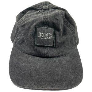 Pink Victoria's Secret Dark Gray Denim Hat